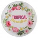 Assiettes carton Tropical Paradise 22.5 cm les 10