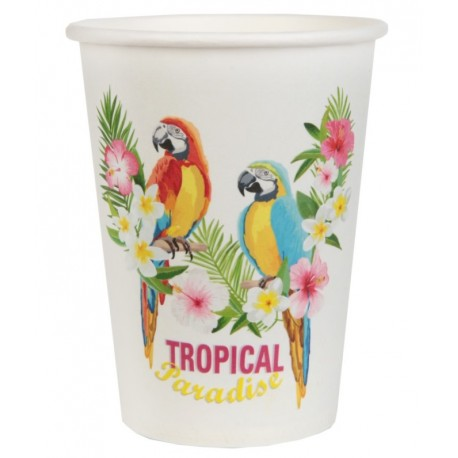 Gobelet carton tropical paradise les 10