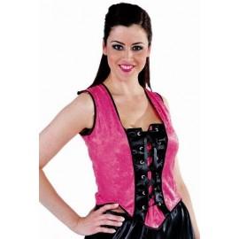 Déguisement Bustier Moulin Rouge rose femme luxe