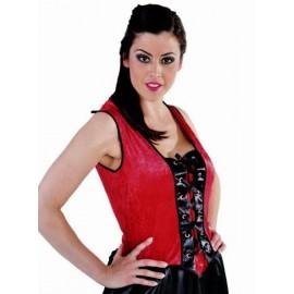Déguisement Bustier Moulin Rouge rouge femme