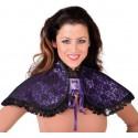 Faux col violet à dentelle noire femme luxe