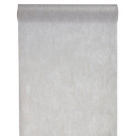 Chemin de table intissé gris 25 M
