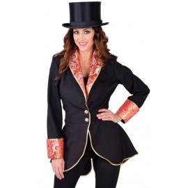 Déguisement manteau noir femme luxe