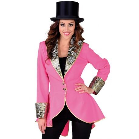 Déguisement manteau rose femme luxe