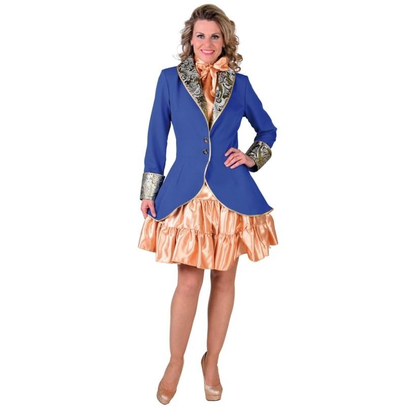 Manteau bleu cobalt femme