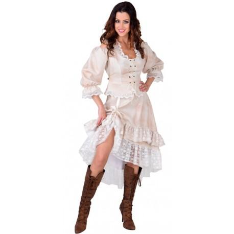 Déguisement jupe dirty crème femme luxe