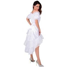 Déguisement Jupe dentelle blanche femme luxe