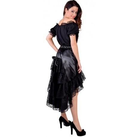 Déguisement Jupe dentelle noire femme luxe