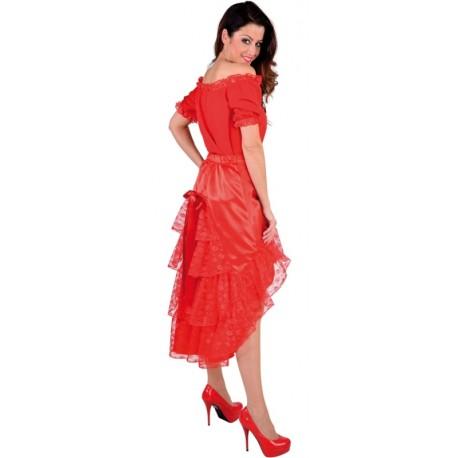 Déguisement Jupe dentelle rouge femme luxe