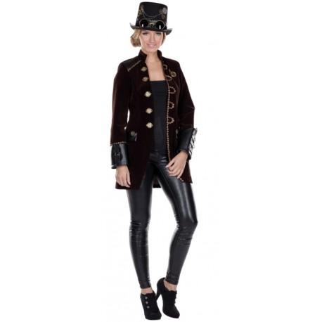 Déguisement manteau Steampunk femme