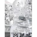 Chemin de table flocon de neige argent intissé blanc 5 M