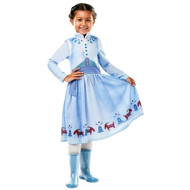 D guisement anna reine des neiges fille reine des neiges - Robe de anna reine des neiges ...