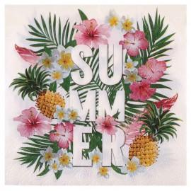 Serviette de table Tropical Summer papier les 20