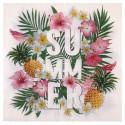Serviettes de table Tropical Summer papier les 20