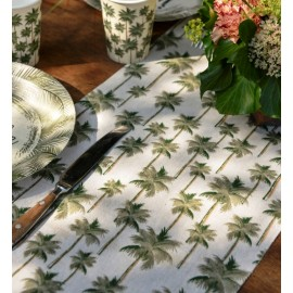 Chemin de table jungle tropical coton 3 M