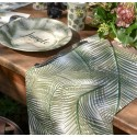 Chemin de table Jungle Palmier coton 3 M