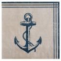 Serviettes de table Bord de mer papier les 20