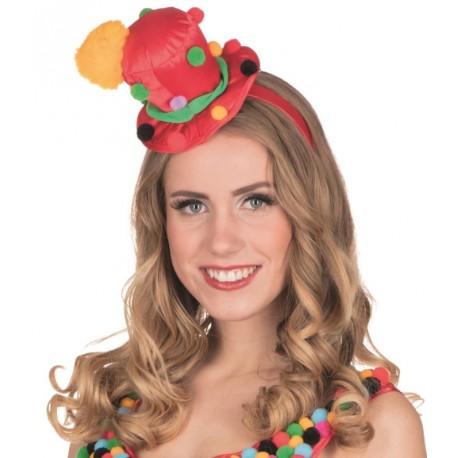 Mini chapeau haut de forme clown femme