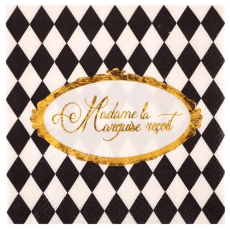 Petite serviette de table Versailles papier les 20