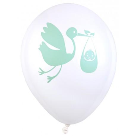 Ballon Baby shower vert 23 cm les 8
