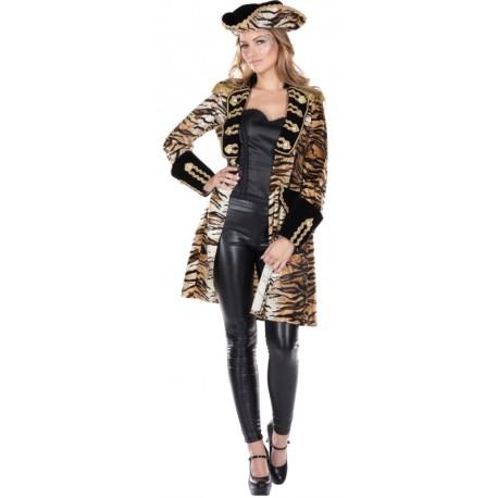 Déguisement manteau tigre femme
