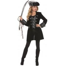 Déguisement manteau pirate femme luxe