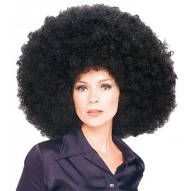 Perruque afro disco noire volume adulte