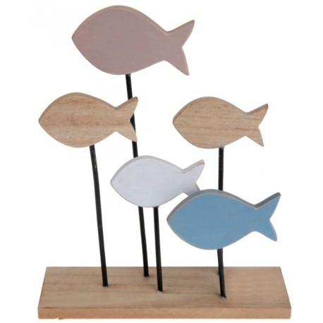 centre de table aquatique en bois d coratif poissons en bois d coration. Black Bedroom Furniture Sets. Home Design Ideas