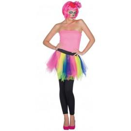 Déguisement jupe tulle multicolore femme