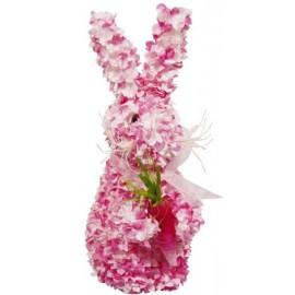Lapin fuchsia décoratif 30 cm