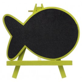 Marque table ardoise poisson vert anis