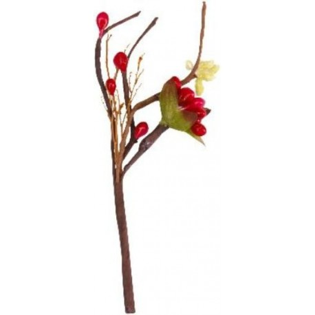 Fleurs Zen Fuschia Sur Piquet Decoratif