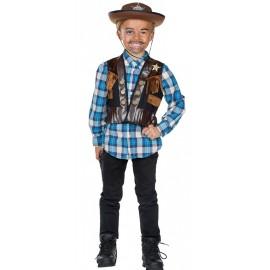 Déguisement gilet cowboy garçon