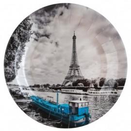 Assiette carton Paris 22.5 cm les 10