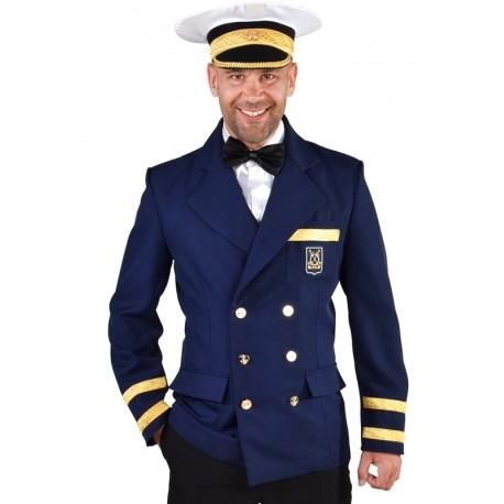 Déguisement capitaine veste marine homme luxe