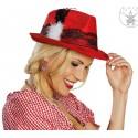 Chapeau tyrolien rouge femme