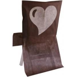 Housse de Chaise Coeur Intissé Couleur Les 10