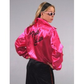 Déguisement Veste Pink Ladies Satin luxe Femme