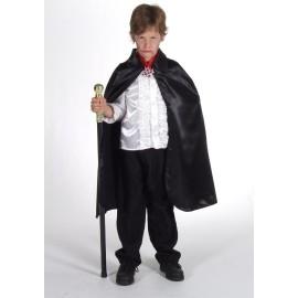 Déguisement cape noire satin enfant