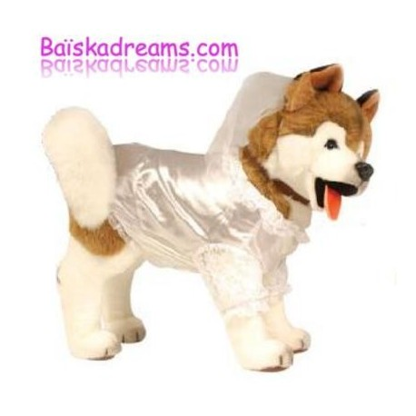 Deguisement dog mariee costume pour chien