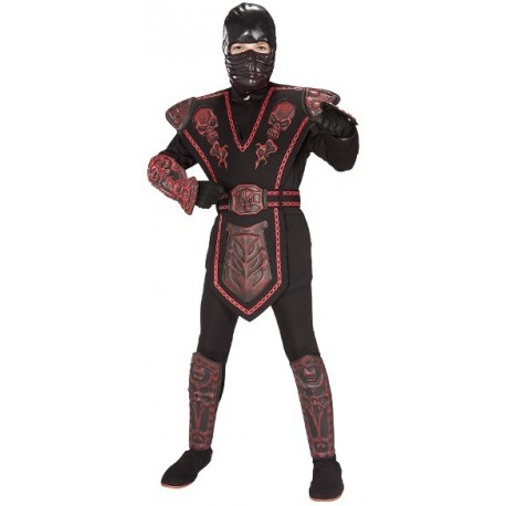Déguisement Ninja Warrior Red Skull Enfant