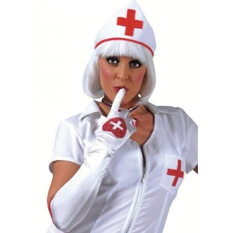 Gants Longs Blanc Infirmière Adulte