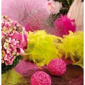 Boule de plumes décorative 10 cm - coloris au choix