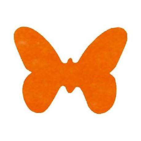Papillons Orange Tissu Non Tisse