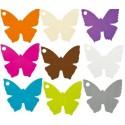 Marque place papillon carton 4.5 cm les 10 - coloris au choix