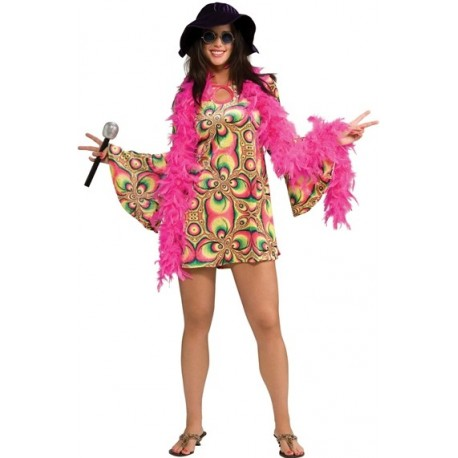 Deguisement hippie Psychadelia Love Femme 60 s 70 s