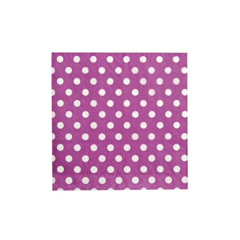 serviette de table prune pois en papier les 20 serviette pois. Black Bedroom Furniture Sets. Home Design Ideas