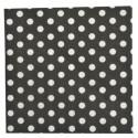 Serviettes de table noires à pois en papier les 20
