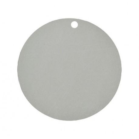Marque place carton gris argent rond les 10