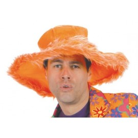 Chapeau hippie orange adulte